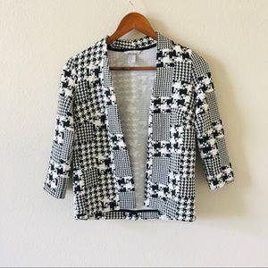 H&M Quarter Sleeve Plaid blazer
